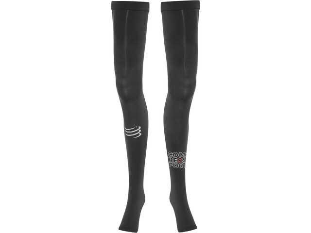 Compressport Total Nogawki Full Leg, black